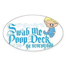 Swab Me Poop Deck Ya Scurvy Dog Decal
