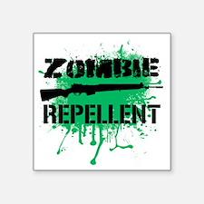 """Zombie Repellent Square Sticker 3"""" x 3"""""""