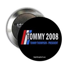 "Tommy Thompson for President '08 2.25"" Button (10"
