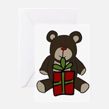Christmas Teddy Bear Gift Greeting Card