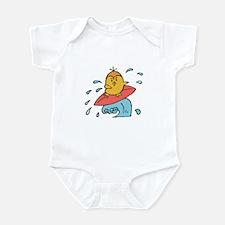 Cute Little Surfing Birdie Infant Bodysuit