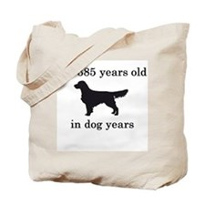 55 birthday dog years golden retriever Tote Bag