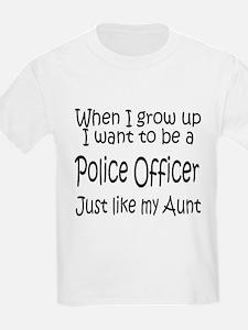 WIGU Police Aunt Kids T-Shirt