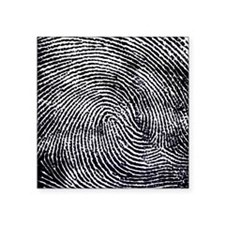 "Enlarged fingerprint Square Sticker 3"" x 3"""