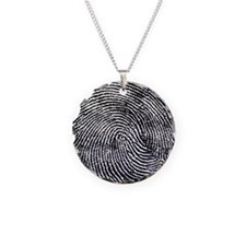 Enlarged fingerprint Necklace