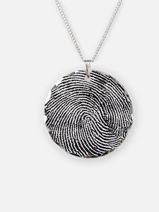 Enlarged fingerprint Necklace