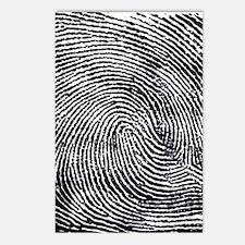 Enlarged fingerprint Postcards (Package of 8)