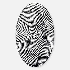 Enlarged fingerprint Decal