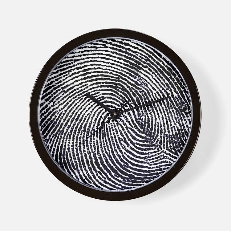 Enlarged fingerprint Wall Clock