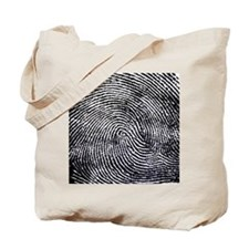 Enlarged fingerprint Tote Bag