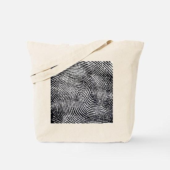Enlarged fingerprint Tote Bag
