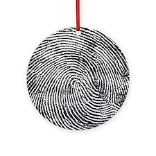 Enlarged fingerprint Round Ornament