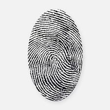 Enlarged fingerprint Oval Car Magnet