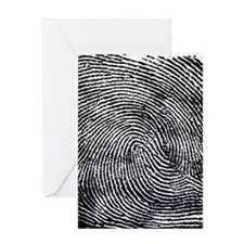 Enlarged fingerprint Greeting Card