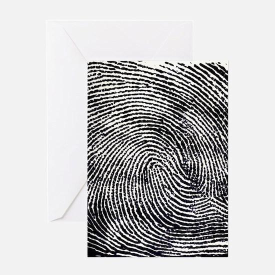 Enlarged fingerprint Greeting Card