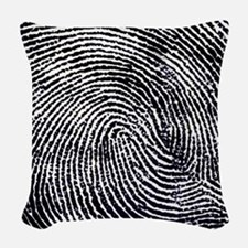 Enlarged fingerprint Woven Throw Pillow