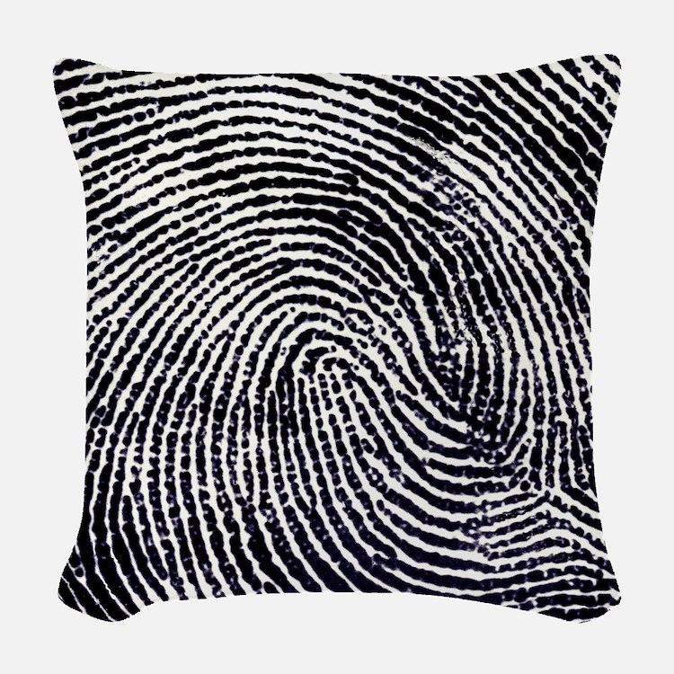 Enlarged fingerprint Woven Throw Pillow