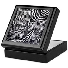 Enlarged fingerprint Keepsake Box