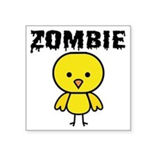 "Zombie Chick Square Sticker 3"" x 3"""