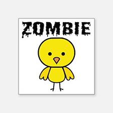 "Zombie Chick Square Sticker 3"" x 3"""