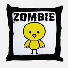 Zombie Chick Throw Pillow