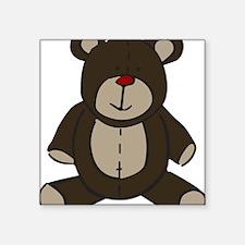 "Teddy Bear Square Sticker 3"" x 3"""