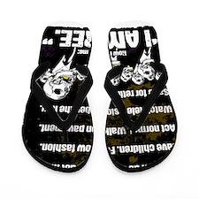 Conformity: I am Free. (No Flag, Gold) Flip Flops