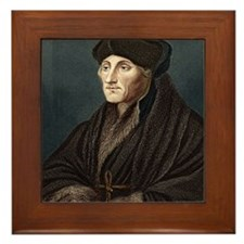 Erasmus, Dutch theologian Framed Tile