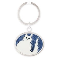 Nome Stray Cat Oval Keychain
