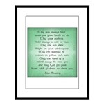 irish blessing Large Framed Print