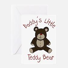 Daddys Teddy Bear Greeting Card