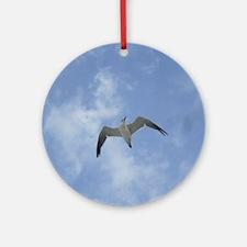 Lone Seagull Round Ornament