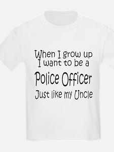 WIGU Police Uncle Kids T-Shirt