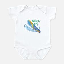 Surf's Up Surfboard Design Infant Bodysuit