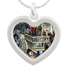 Execution of Lavoisier, 8 Ma Silver Heart Necklace