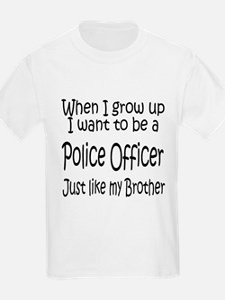 WIGU Police Brother Kids T-Shirt