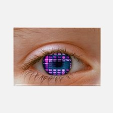 Eye and DNA autoradiogram Rectangle Magnet