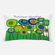 Retired Teacher Whimsical trees Blanke Pillow Case