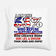 I Am The 53% Square Canvas Pillow