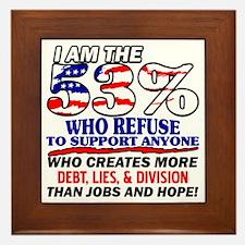 I Am The 53% Framed Tile