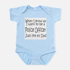 WIGU Police Dad Infant Bodysuit