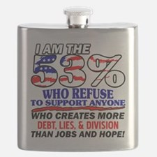 I Am The 53% Flask
