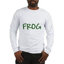 Green Text Frog Long Sleeve T-Shirt