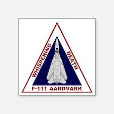 "F-111 Aardvark - Whispering Square Sticker 3"" x 3"""