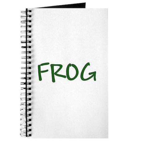 Green Text Frog Journal