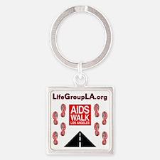 The Life Group LA - AIDS Walk Square Keychain