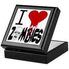 I Love Zombies Keepsake Box