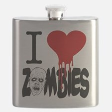I Love Zombies Flask