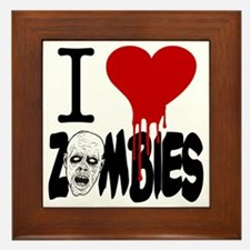 I Love Zombies Framed Tile