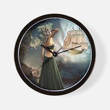 m1_shower_curtain2 Wall Clock